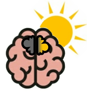 Logo of brain, dark to light